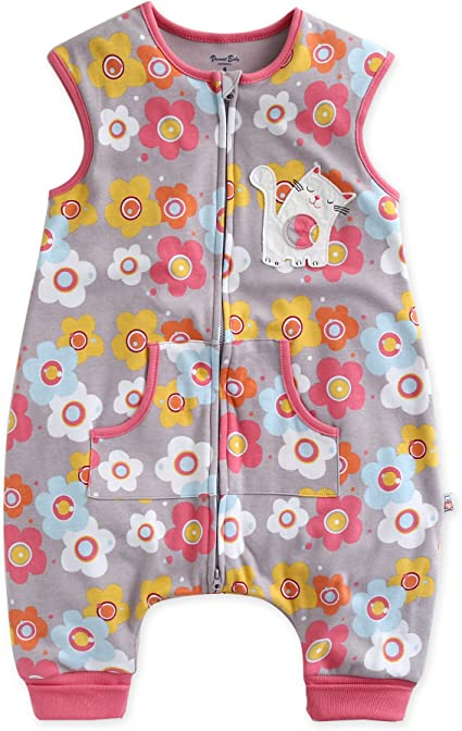 VAENAIT BABY 1-7Y Kid Girls Wearable Blanket Sleeper Daisy Cat Sleep S