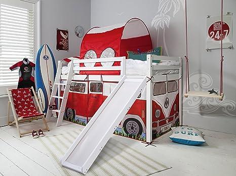 Cama de cabina Midsleeper con Slide & Caravana Tienda de campaña y túnel Noa y Nani: Amazon.es: Hogar