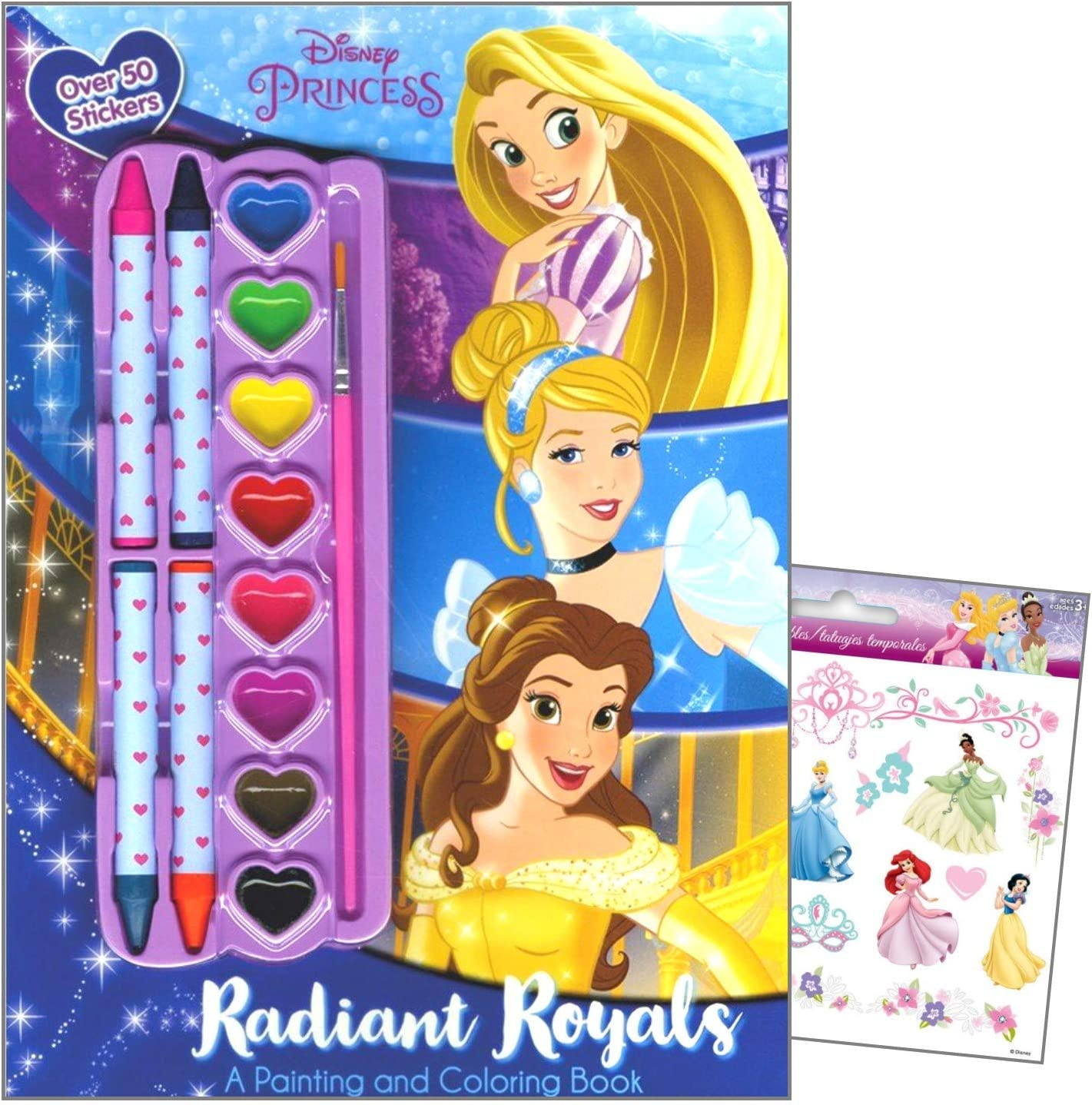 Amazon.com: Disney Princess Coloring Book Art Activity Stickers