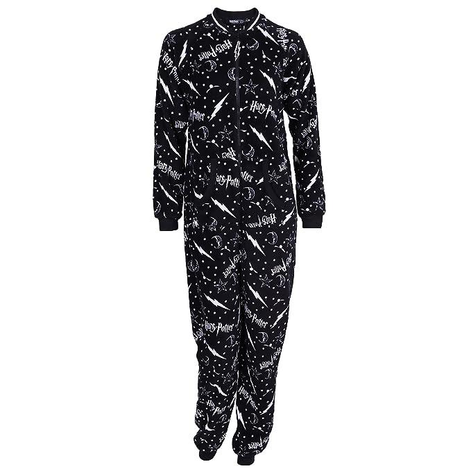 Harry Potter - Pijama de una Pieza - para Mujer Negro Negro (36