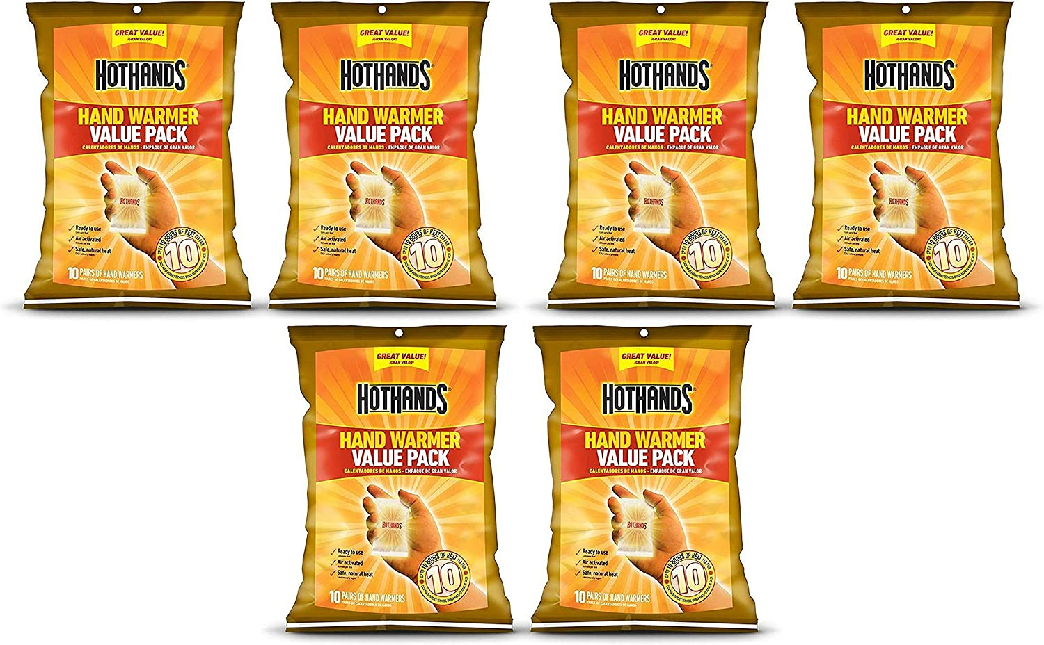 HOTHANDS Hand Warmers 36 Pairs Heat up to 8 Hours