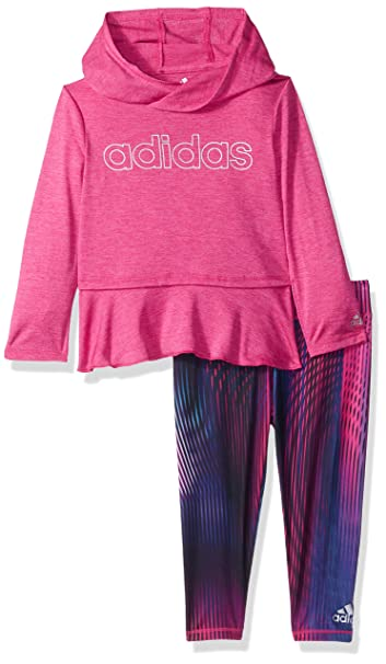 5e840ea7119 Image Unavailable. Image not available for. Color: adidas Baby Girls Hoodie  and Legging Set ...