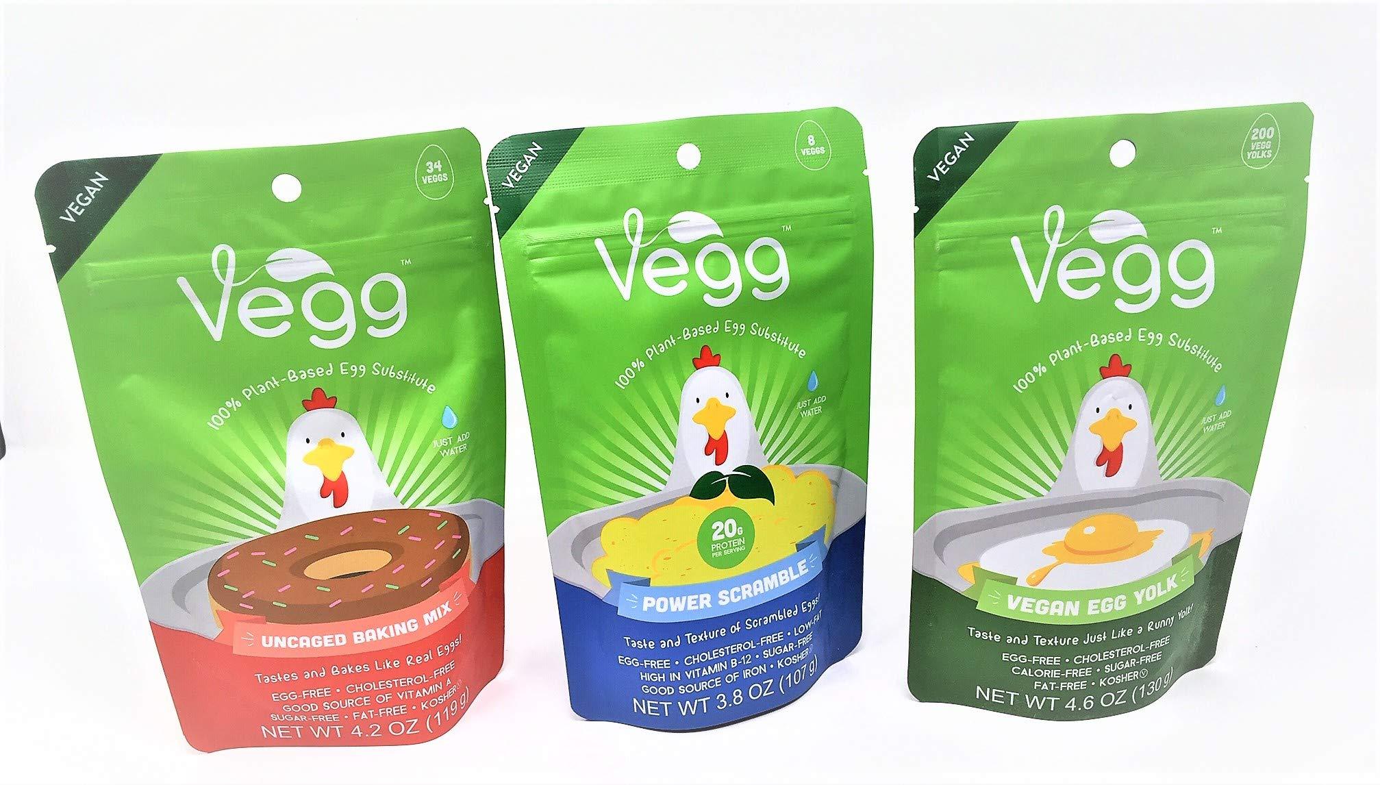 The Vegg Vegan Mega Pack Vegan Egg Yolk + Power Scramble + French Toast Mix + Uncaged Baking Mix + Egg Wisk + Measuring Cups and Spoons + The Vegg Cookbook by The Vegg (Image #6)