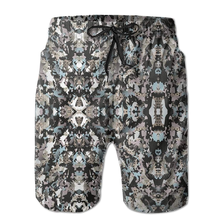 MIGAGA Manipulated Camouflage Mens Summer Casual Swimming Shorts Beach Board Shorts