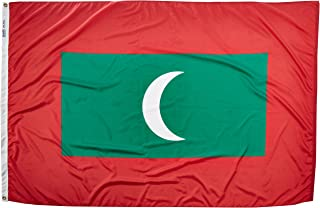 product image for Annin Flagmakers Model 195354 Maldives Flag Nylon SolarGuard NYL-Glo, 4x6 ft, 100% Made in USA to Official United Nations Design Specifications