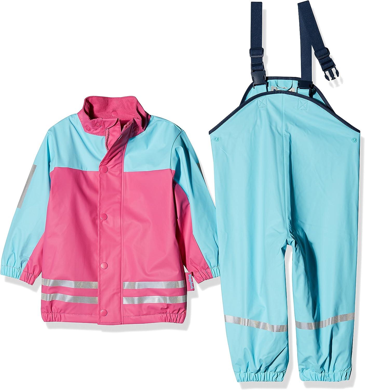 Playshoes Regen-Anzug mit Fleece-Futter Giacca Impermeabile Bambina