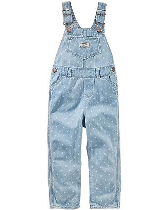 7fcb3c6ec95 Amazon.com  OshKosh B Gosh Baby Girls  Dot Print Denim Overalls  Clothing