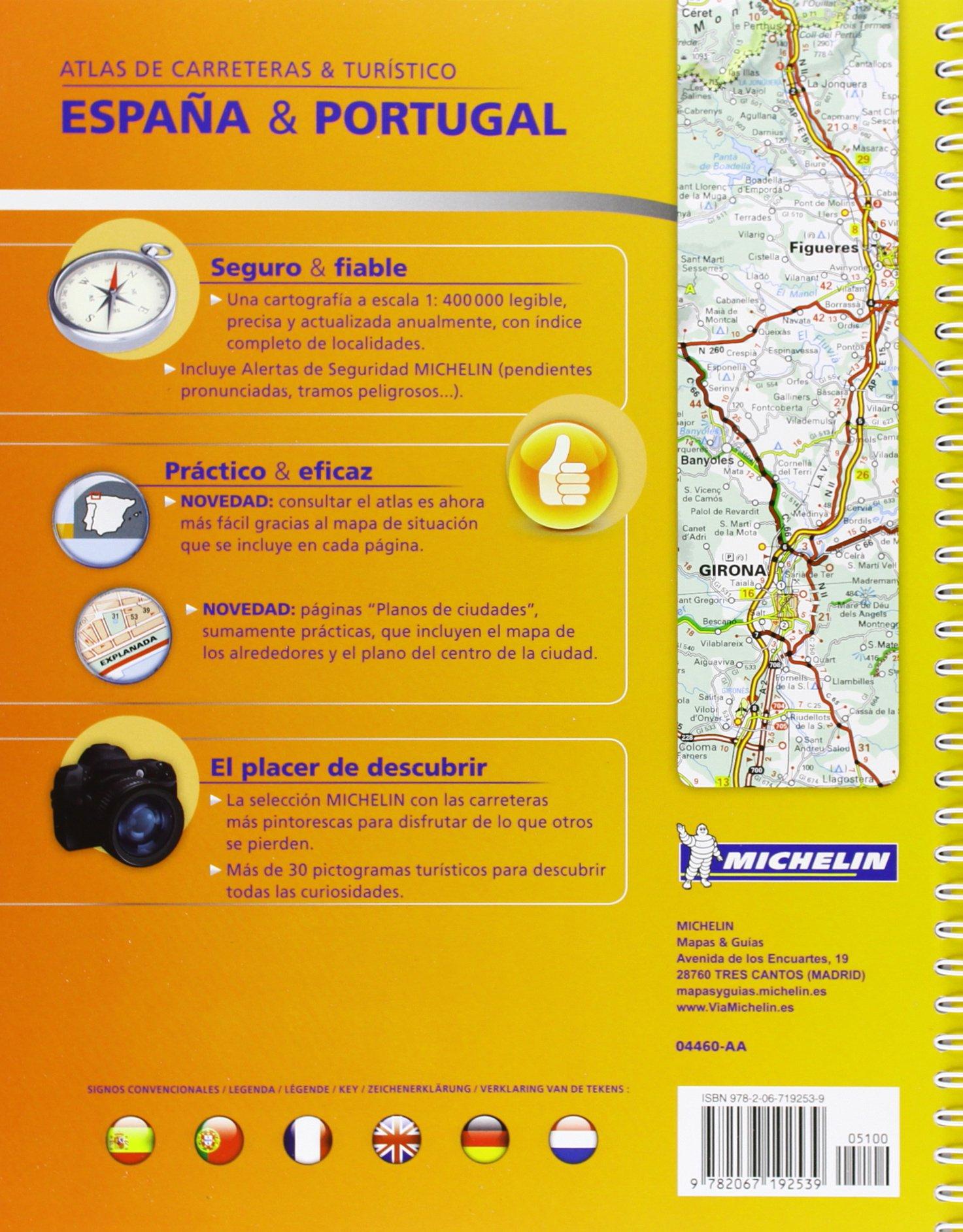 Atlas España. Portugal A4 Atlas de carreteras Michelin: Amazon.es ...