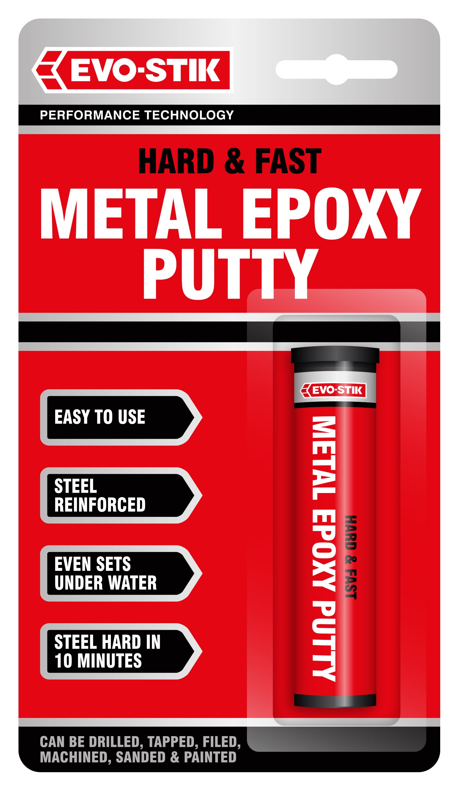 1 Pack of Evo-Stik Hard & Fast Metal Epoxy Adhesive Glue Putty 50g / 1.7 ounces 320123