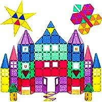 100-Piece Playmags 3D Magnetic Blocks Building Tiles