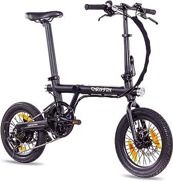 Chrisson ERTOS 16 - Bicicleta eléctrica plegable con motor de buje ...