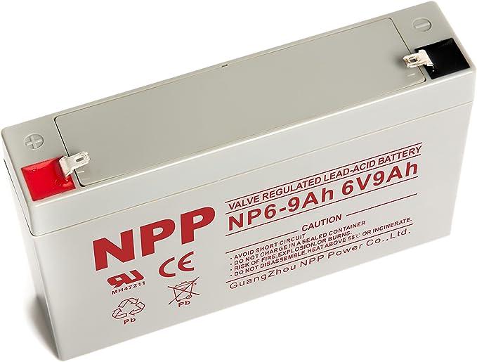 NPP 6V 9Ah  Rechargeable SLA Battery Replace 6V 7Ah 2pcs 6V 8Ah With  F1  //