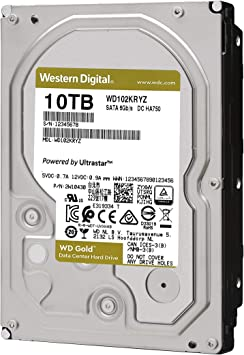 Amazon Com Western Digital 10tb Wd Gold Enterprise Class Internal Hard Drive 7200 Rpm Class Sata 6 Gb S 256 Mb Cache 3 5 Wd102kryz Computers Accessories
