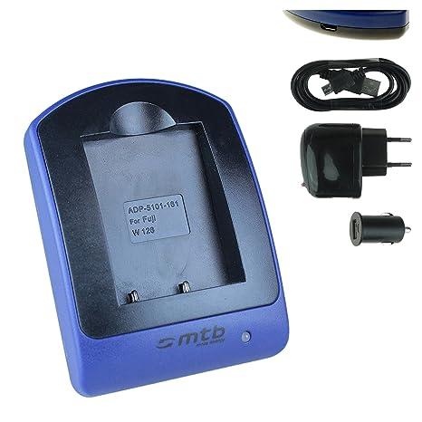 Cargador (USB/Coche/Corriente) para Fuji NP-W126 / Fujifilm X-A1 X-A2 X-E1 X-E2S X-M1 X-Pro2 XT-10 HS50EXR. Ver Lista