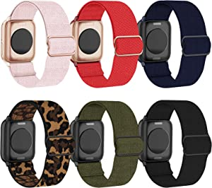 BMBEAR Stretchy Strap Watch Band Compatible with Apple Watch Band 44mm 42mm iWatch Series SE/6/5/4/3/2/1 Soft Adjustable Elastic Wristband