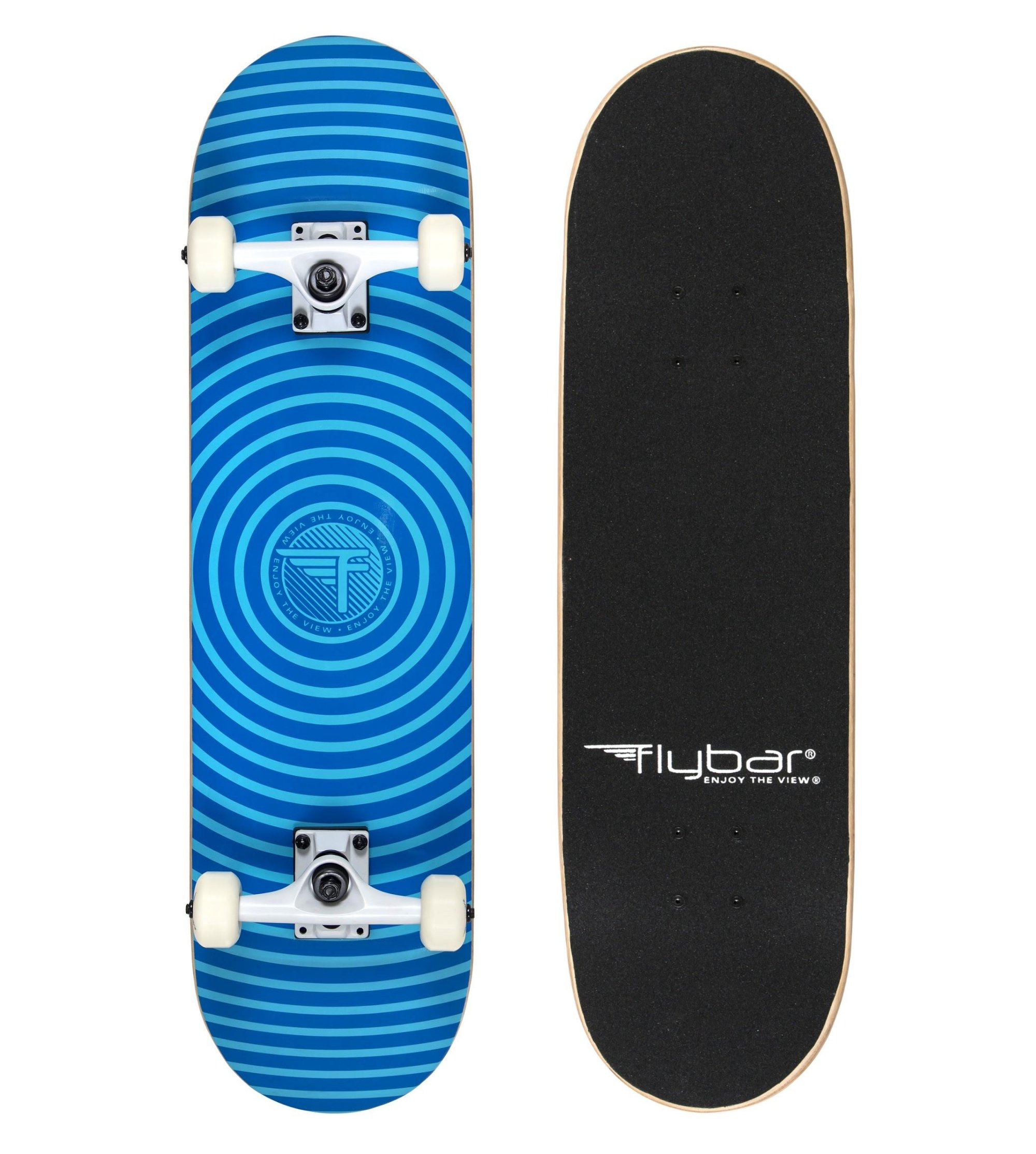 Flybar Complete Skateboards 31'' x 8'' 7 Ply Maple Wood Board (Spiral)