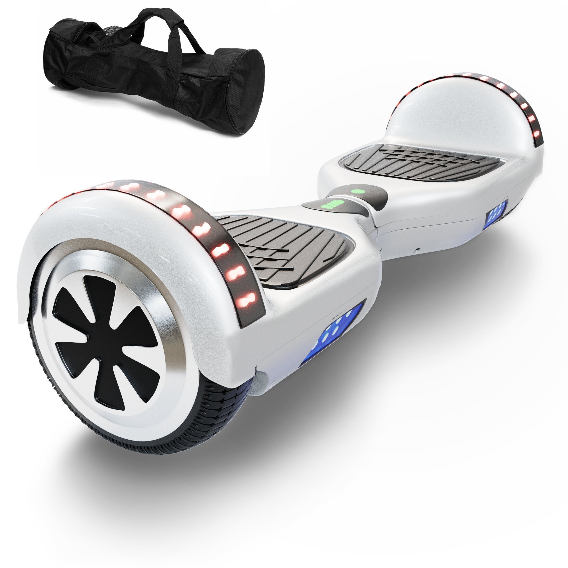 CXInWalk Hoverboard Self Balancing Scooter UL 2272 Certified with Powerful Bluetooth Speaker, Cool LED lights and FREE Portable Carrying Bag (Ivory White)
