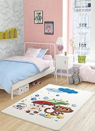 Kinder Kinderzimmer Jungen Mädchen Teppich Teppich Baby Tier ...
