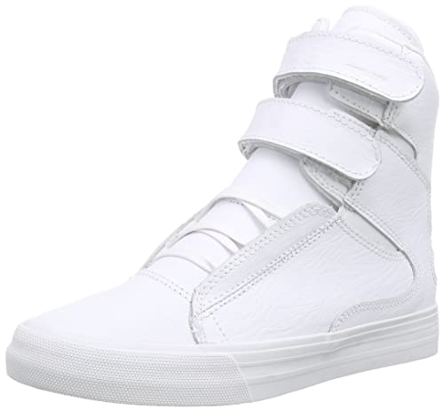 Supra Society Ii, Unisex Adults' Hi-Top Sneakers, White (White/