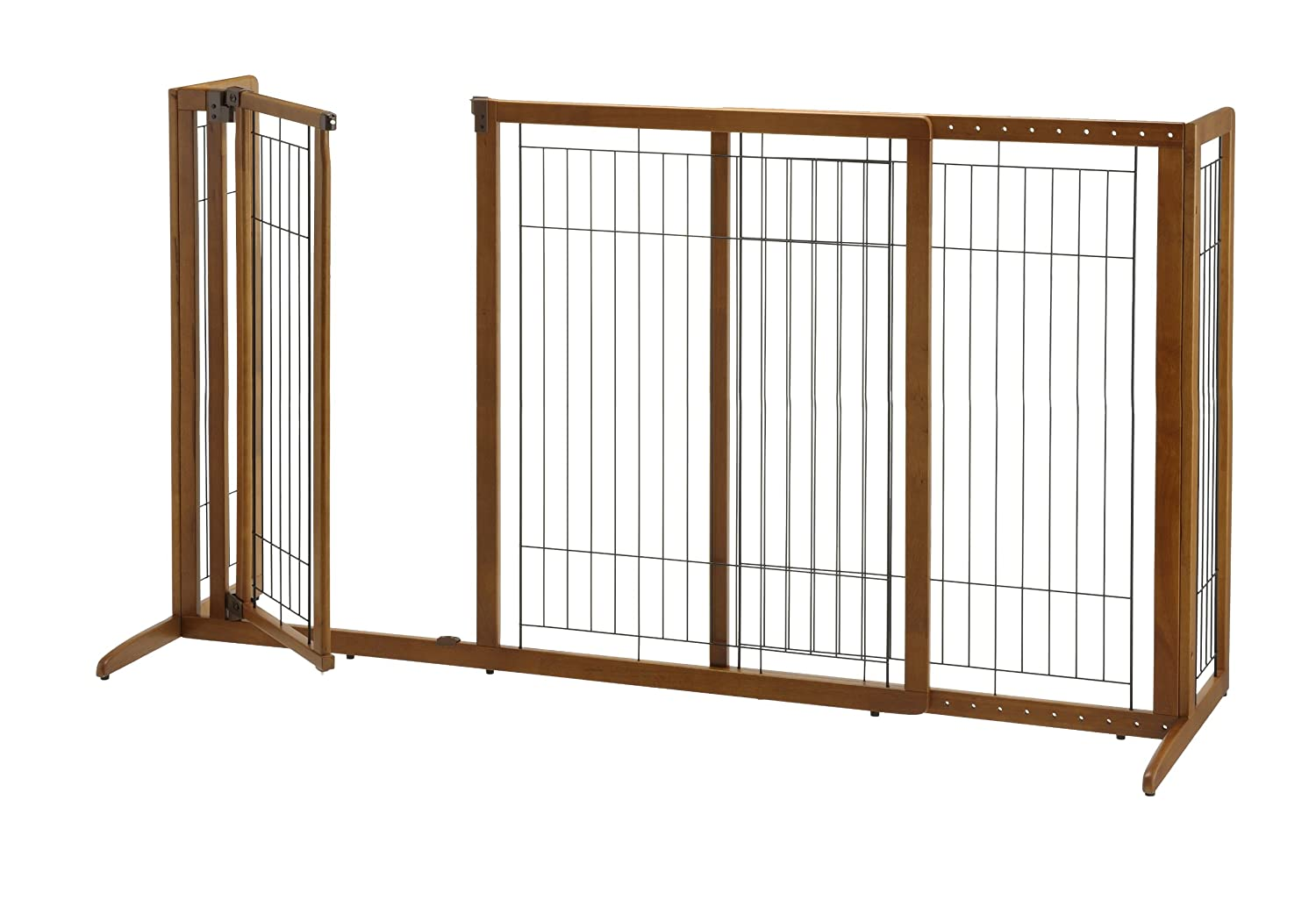 Charmant Amazon.com : Richell Deluxe Freestanding Pet Gate With Door, Large : Pet  Kennels : Pet Supplies