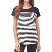 4ceed5d0b66 Smallshow Women's Maternity Nursing Tops Striped Breastfeeding T-Shirt