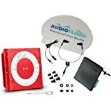 AudioFlood Waterproof Apple iPod Shuffle by with True Short Cord Headphones - Highest Rated Waterproof MP3 Player on Amazon