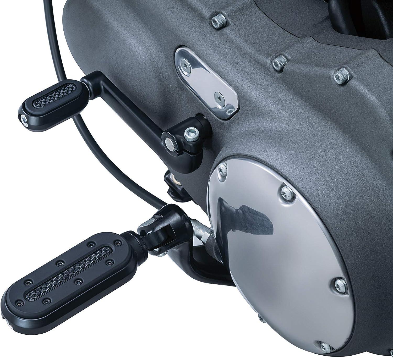 Kuryakyn 7031 Motorcycle Footpegs Chrome 1 Pair Heavy Industry Pegs with Male Mount Adapters