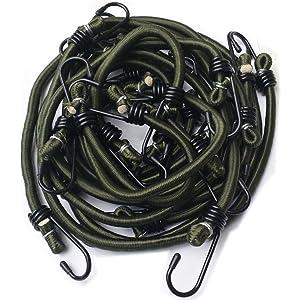 Timtina - Cuerda elástica para anclar equipaje, 12 piezas, varias longitudes