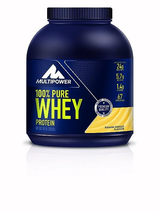 166 opinioni per Multipower 100% Pure Whey, Complesso di proteine del siero del latte, gusto