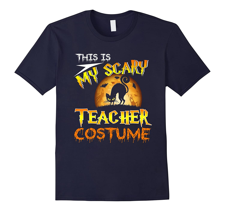 This Is My Scary Teacher Costume TShirt Cat Moon Halloween-FL