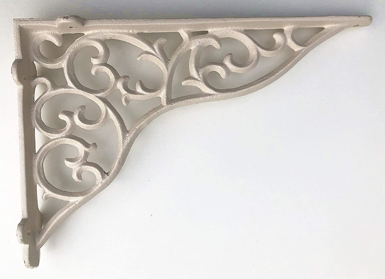 Antique Brown SPRING LIFE Cast Iron Ornate Shelf Bracket 27.5cm x 19cm in 3 colours