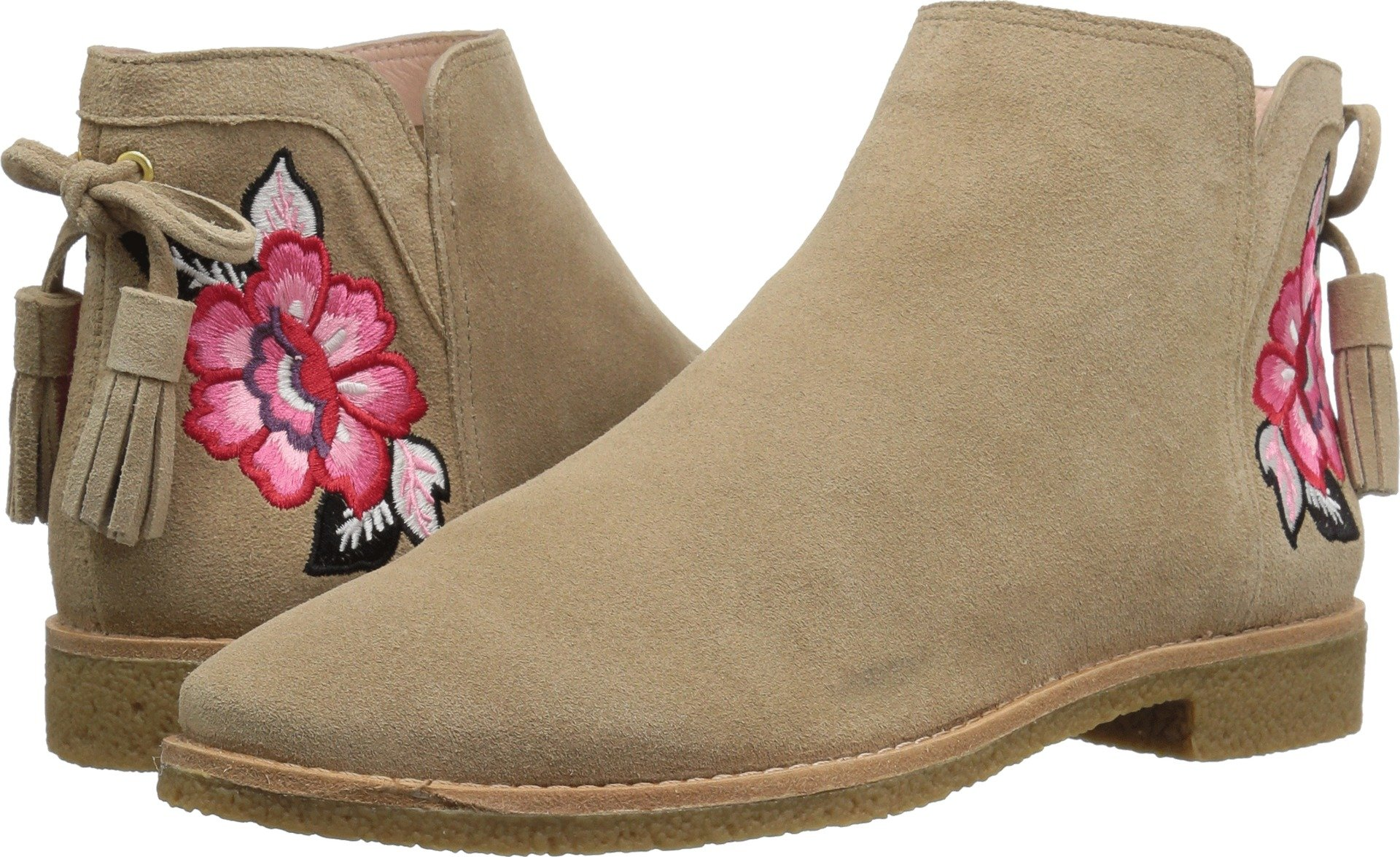 Kate Spade New York Women's Bellville Ankle Boot, Beige, 10 Medium US