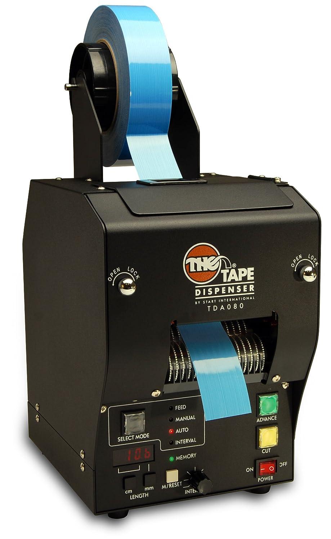 START International TDA080-M-2EU Dispensador de Cinta para Trabajos Pesados Eléctrico con Memoria Programable, Negro: Amazon.es: Industria, ...