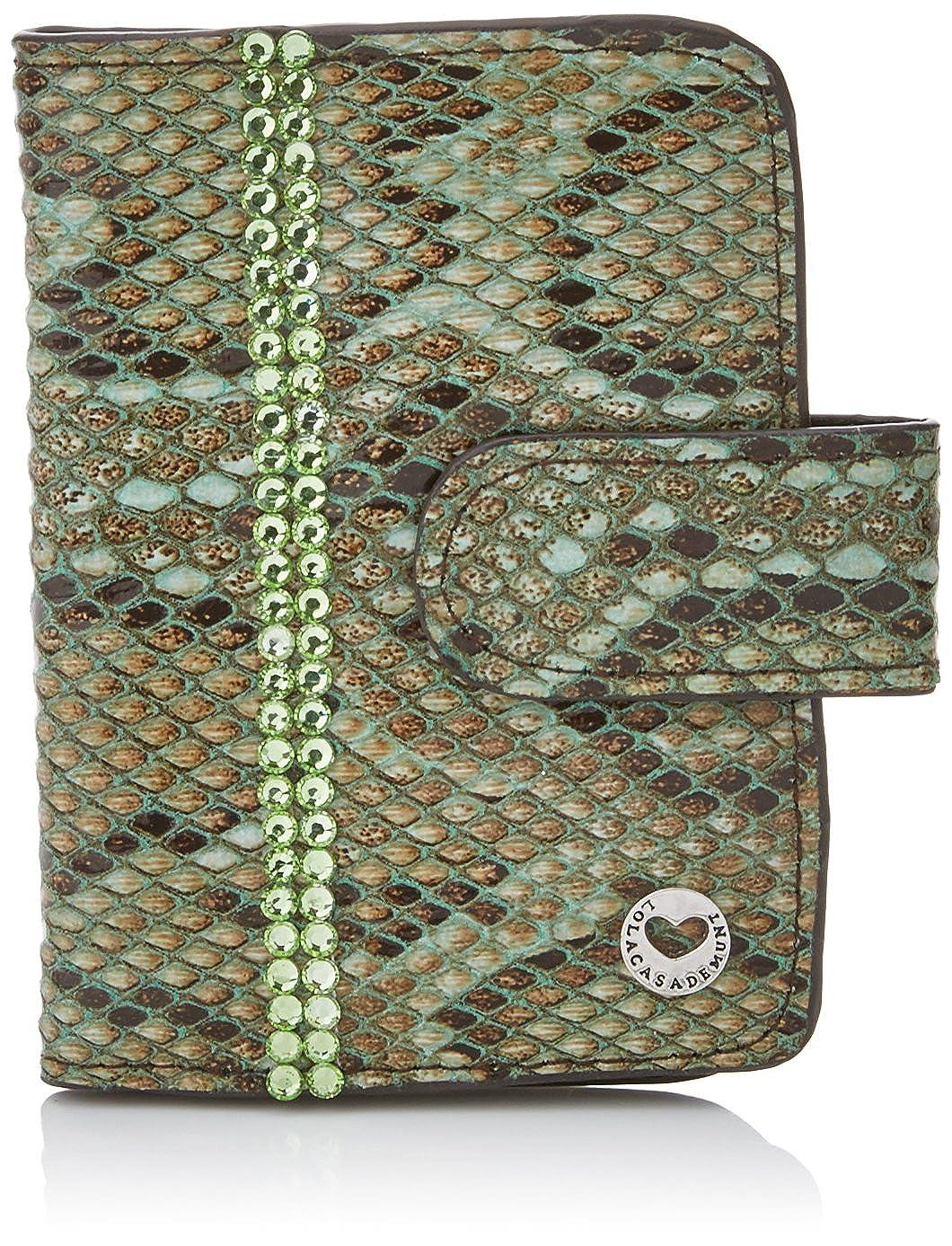 Lola Casademunt Dalila, Tarjetero para Mujer, Verde (Green), 2x12x9 cm (W x H x L)