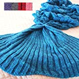 Amazon Price History for:Feiuruhf Handmade Mermaid Tail Blanket Soft Sofa Blanket for Adult (lake blue)