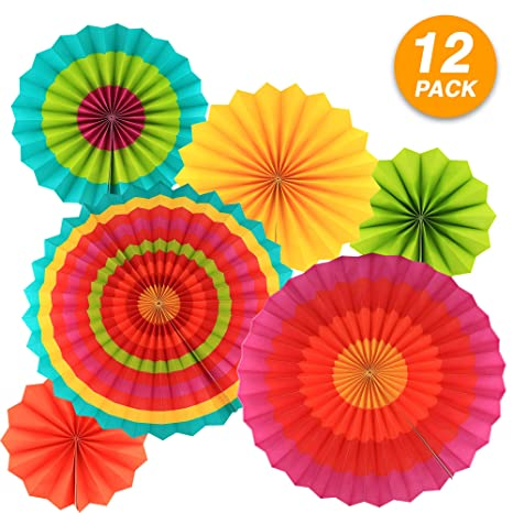 Amazon.com: Ram Pro - Rosetos de papel colorido para colgar ...