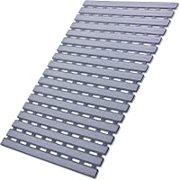 I FRMMY Non Slip Bath Shower Floor Mat with Drain Hole- Anti Slip and Mold Resistant Bathroom Stall Mat, 25'' x 16'' (Gray)