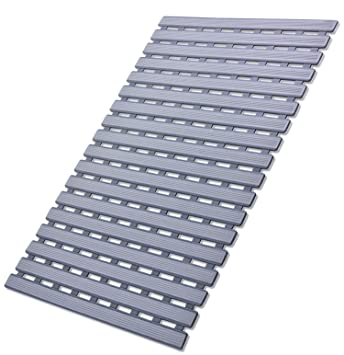 Amazon.com: Non Slip Shower Floor Mat with Drain Hole by ifrmmy ...