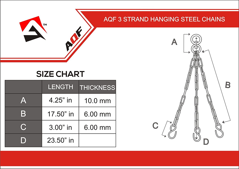 AQF Heavy Duty Boxing Punch Bag Iron 3 Panel Chains Wall Mount Punching MMA Training Hanger