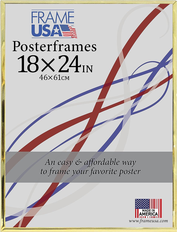 Hardboard Poster Frame, 18 x 24, Gold