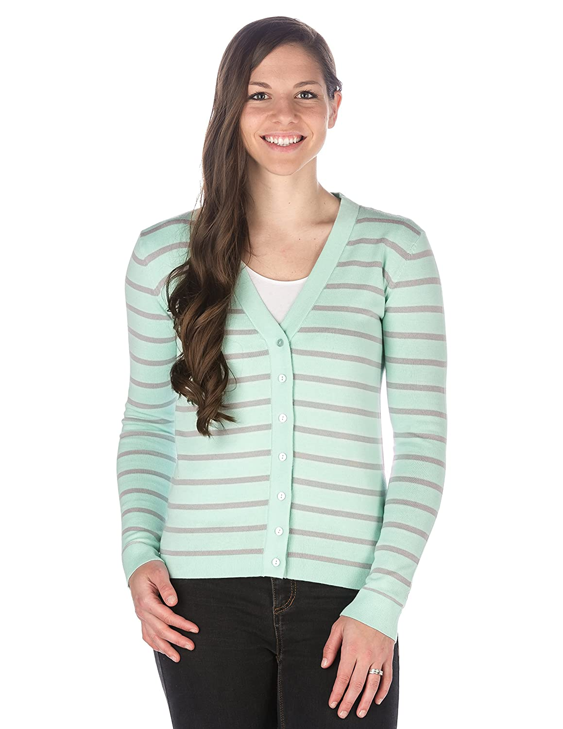 Noble Mount Womens 100% Cotton Cardigan Sweater at Amazon Women's ...