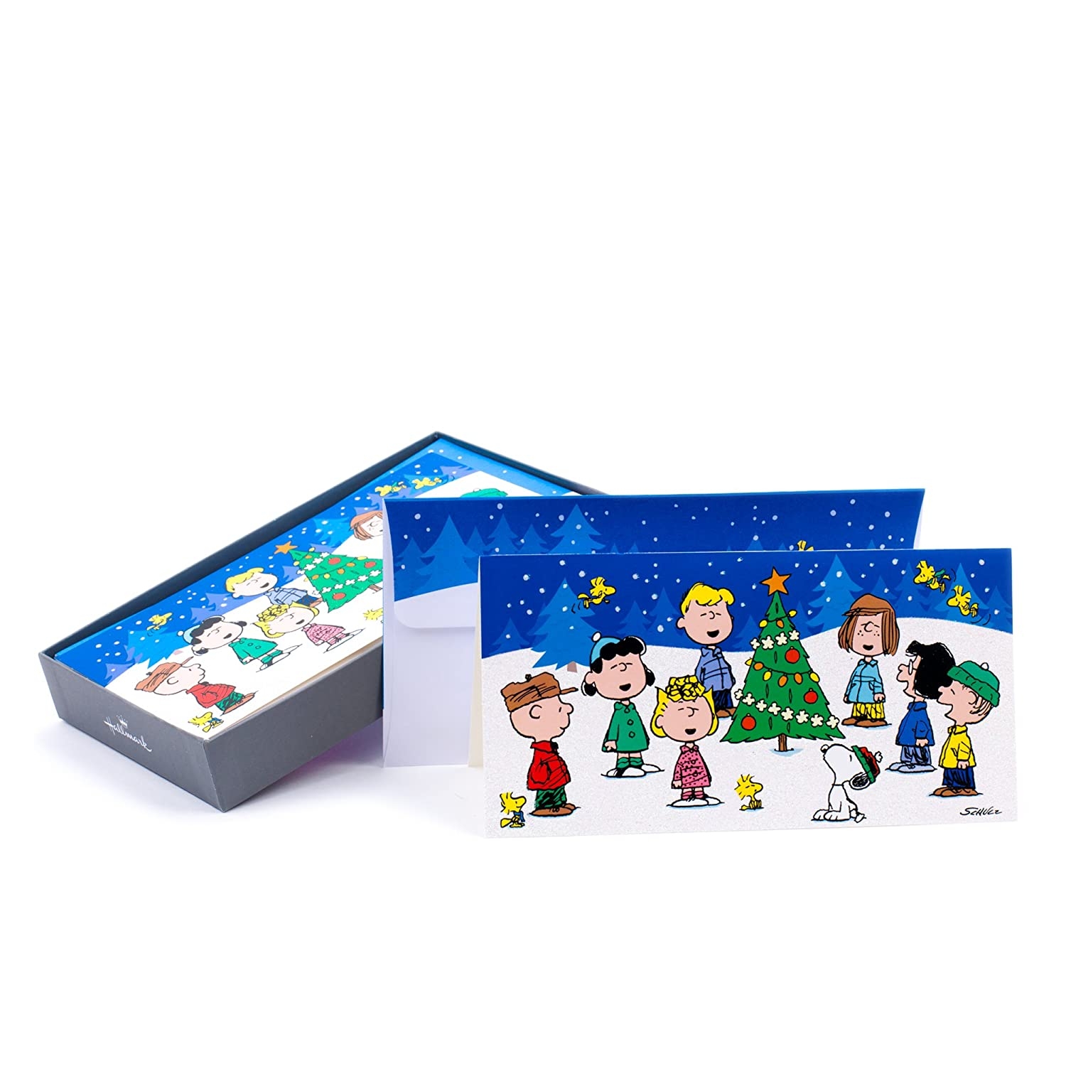 Amazon.com: Hallmark Christmas Boxed Cards, Peanuts Gang (16 Cards ...
