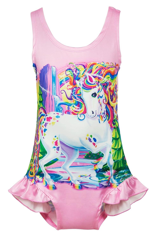 Wenge Girls Rainbow Unicorn Swimsuit Baby Unicorn Print Swimsuit-One Piece Swimwear Bathing Suit Bikinis