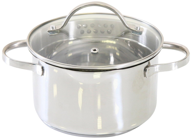 axentia Kochtopf Pado mit Deckel aus Glas, Küchen-Geschirr aus ...