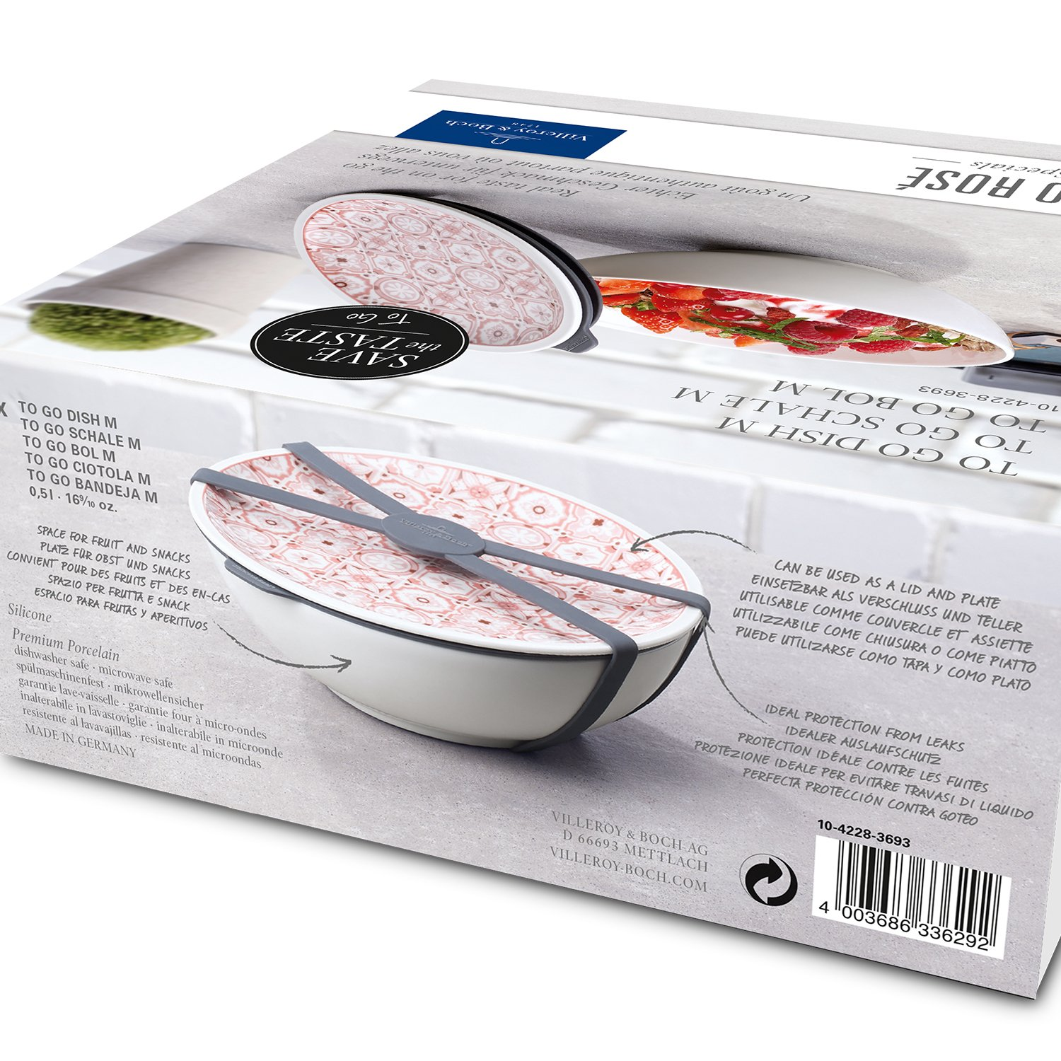 Amazon.com: Villeroy & Boch to Go Rose Medium Dish Dishes ...