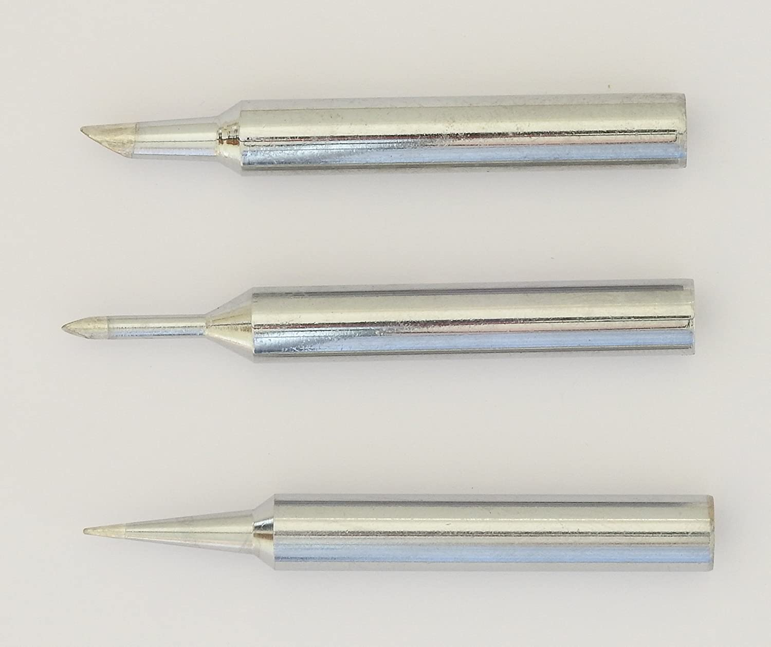 Pack of 3 assorted replacement tips for the Antex XS25 soldering iron (MMF00J0)