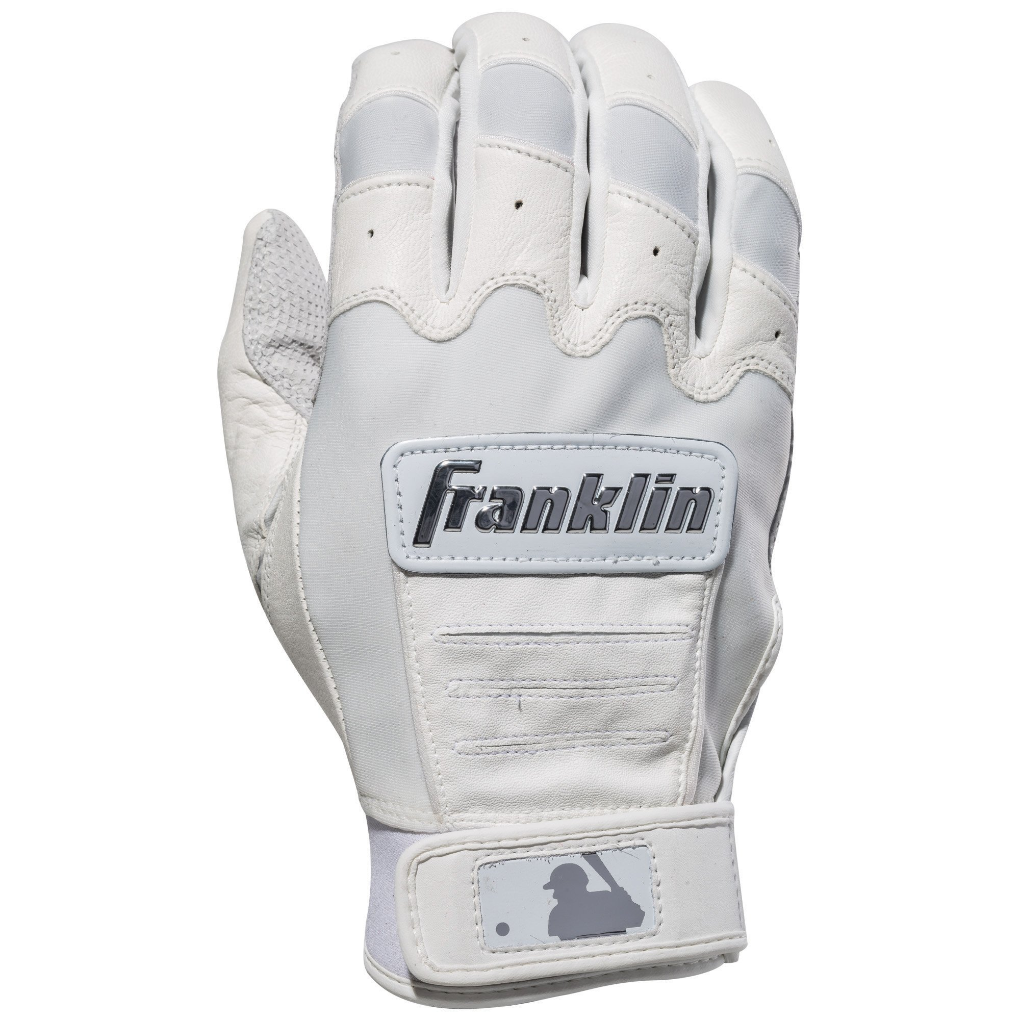 Franklin Sports CFX Pro Full Color Chrome Series Batting Gloves CFX Pro Full Color Chrome Batting Gloves, White, Adult Small by Franklin Sports (Image #2)