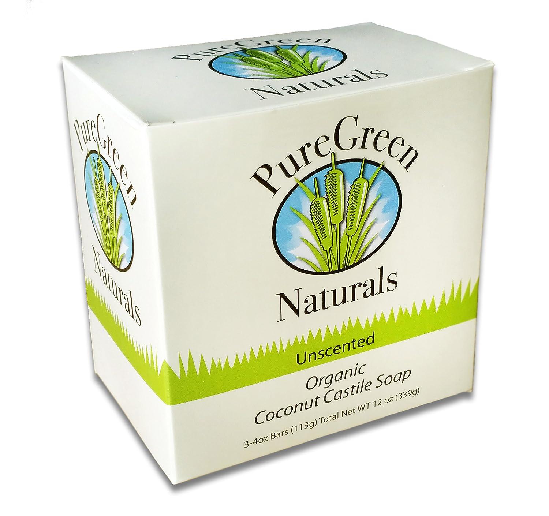 Coconut Oil Castile Soap Bar- Unscented Sensitive Skin - 4 oz (3 pack) -  Pure and All Natural