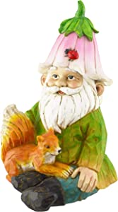 Red Carpet Studios 20507 Garden, 7.5 x 4.75, Smiling Green Gnome