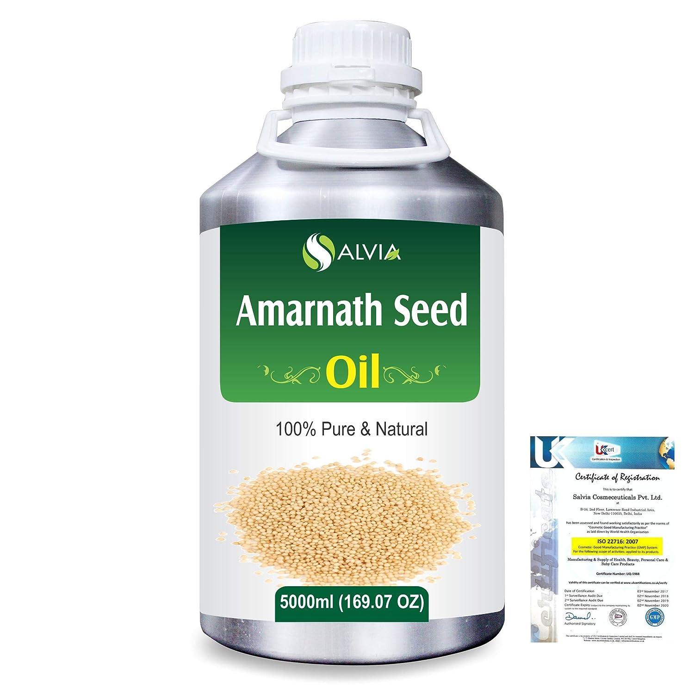 Amaranth Seed (Amaranthus caudatus)100% Natural Pure Carrier Oil 5000ml/169 fl.oz. B07RF81WDC